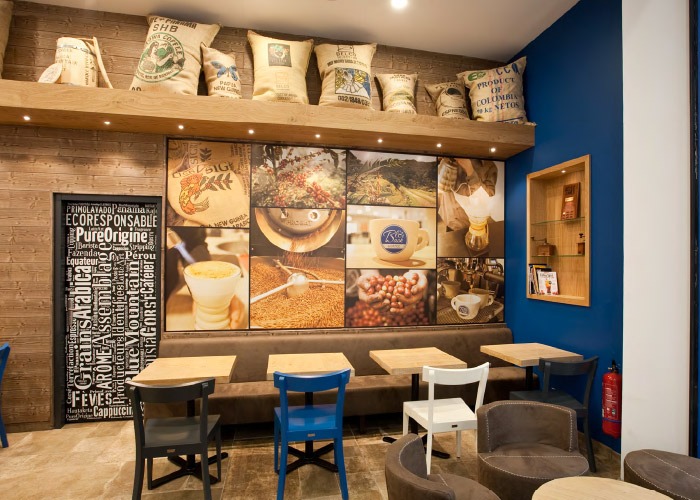 Boutique Blue Bask Coffee